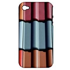 Shingle Roof Shingles Roofing Tile Apple iPhone 4/4S Hardshell Case (PC+Silicone)