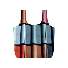 Shingle Roof Shingles Roofing Tile Full Print Recycle Bags (S)