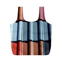 Shingle Roof Shingles Roofing Tile Full Print Recycle Bags (m)