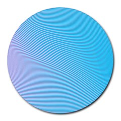 Background Graphics Lines Wave Round Mousepads
