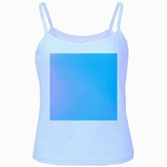 Background Graphics Lines Wave Baby Blue Spaghetti Tank