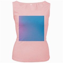 Background Graphics Lines Wave Women s Pink Tank Top