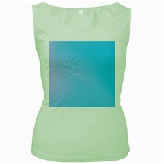 Background Graphics Lines Wave Women s Green Tank Top