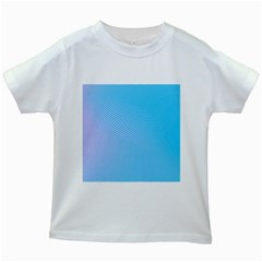 Background Graphics Lines Wave Kids White T-Shirts