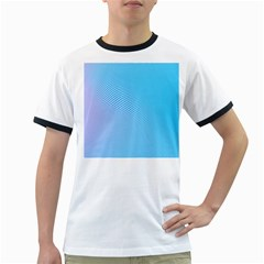 Background Graphics Lines Wave Ringer T-Shirts