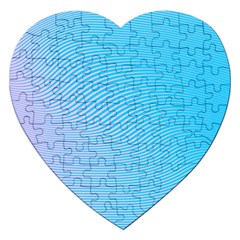 Background Graphics Lines Wave Jigsaw Puzzle (heart)