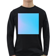 Background Graphics Lines Wave Long Sleeve Dark T-Shirts