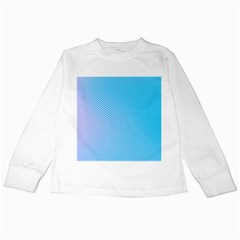 Background Graphics Lines Wave Kids Long Sleeve T Shirts