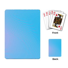 Background Graphics Lines Wave Playing Card