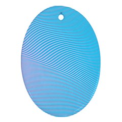 Background Graphics Lines Wave Oval Ornament (two Sides)