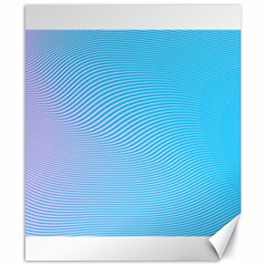 Background Graphics Lines Wave Canvas 8  x 10