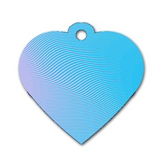Background Graphics Lines Wave Dog Tag Heart (Two Sides)