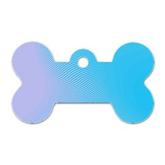 Background Graphics Lines Wave Dog Tag Bone (Two Sides)