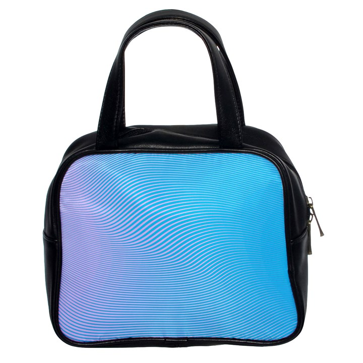Background Graphics Lines Wave Classic Handbags (2 Sides)