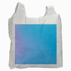Background Graphics Lines Wave Recycle Bag (two Side)