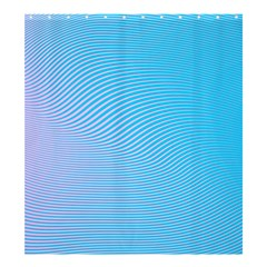Background Graphics Lines Wave Shower Curtain 66  x 72  (Large)