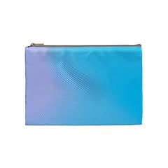 Background Graphics Lines Wave Cosmetic Bag (Medium)