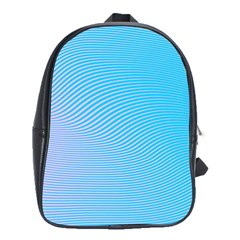 Background Graphics Lines Wave School Bags(Large)