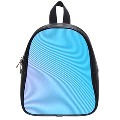 Background Graphics Lines Wave School Bags (small)