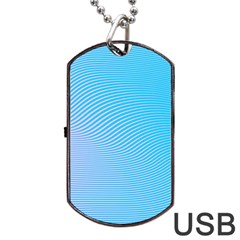Background Graphics Lines Wave Dog Tag USB Flash (Two Sides)