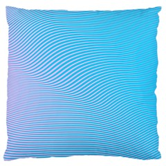 Background Graphics Lines Wave Large Cushion Case (Two Sides)