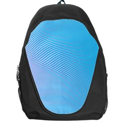 Background Graphics Lines Wave Backpack Bag