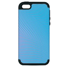 Background Graphics Lines Wave Apple iPhone 5 Hardshell Case (PC+Silicone)