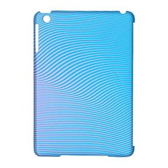 Background Graphics Lines Wave Apple Ipad Mini Hardshell Case (compatible With Smart Cover)