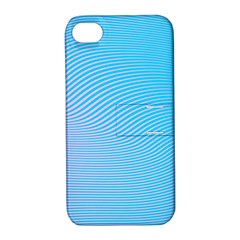 Background Graphics Lines Wave Apple iPhone 4/4S Hardshell Case with Stand