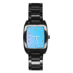 Background Graphics Lines Wave Stainless Steel Barrel Watch