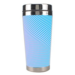 Background Graphics Lines Wave Stainless Steel Travel Tumblers