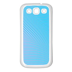 Background Graphics Lines Wave Samsung Galaxy S3 Back Case (White)