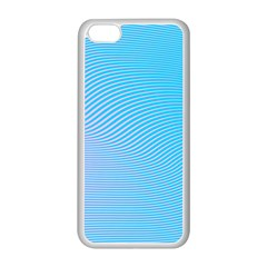 Background Graphics Lines Wave Apple iPhone 5C Seamless Case (White)
