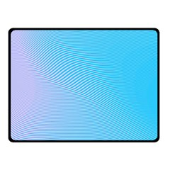 Background Graphics Lines Wave Double Sided Fleece Blanket (Small)