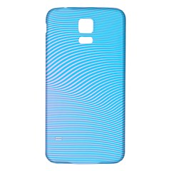 Background Graphics Lines Wave Samsung Galaxy S5 Back Case (White)
