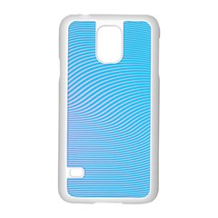 Background Graphics Lines Wave Samsung Galaxy S5 Case (White)