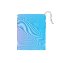 Background Graphics Lines Wave Drawstring Pouches (Small)