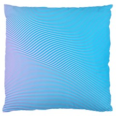 Background Graphics Lines Wave Large Flano Cushion Case (One Side)