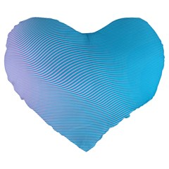 Background Graphics Lines Wave Large 19  Premium Flano Heart Shape Cushions