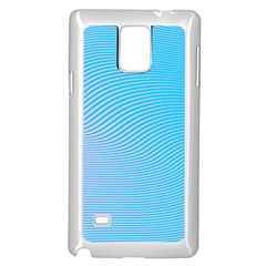 Background Graphics Lines Wave Samsung Galaxy Note 4 Case (White)