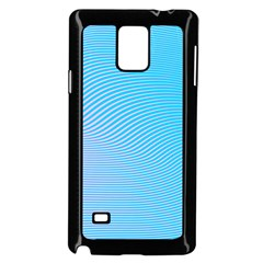 Background Graphics Lines Wave Samsung Galaxy Note 4 Case (Black)