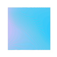 Background Graphics Lines Wave Small Satin Scarf (Square)