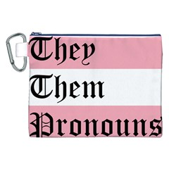 They/Them Pronouns Canvas Cosmetic Bag (XXL)