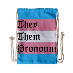 They/Them Pronouns Drawstring Bag (Small)