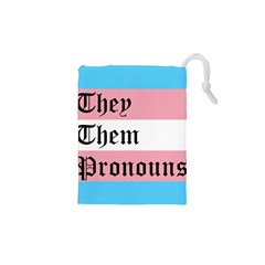 They/Them Pronouns Drawstring Pouches (XS)