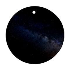 Cosmos Dark Hd Wallpaper Milky Way Ornament (round)
