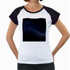 Cosmos Dark Hd Wallpaper Milky Way Women s Cap Sleeve T