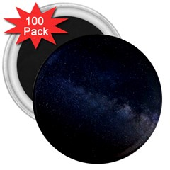 Cosmos Dark Hd Wallpaper Milky Way 3  Magnets (100 pack)