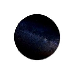Cosmos Dark Hd Wallpaper Milky Way Rubber Round Coaster (4 Pack)