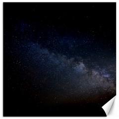 Cosmos Dark Hd Wallpaper Milky Way Canvas 16  X 16